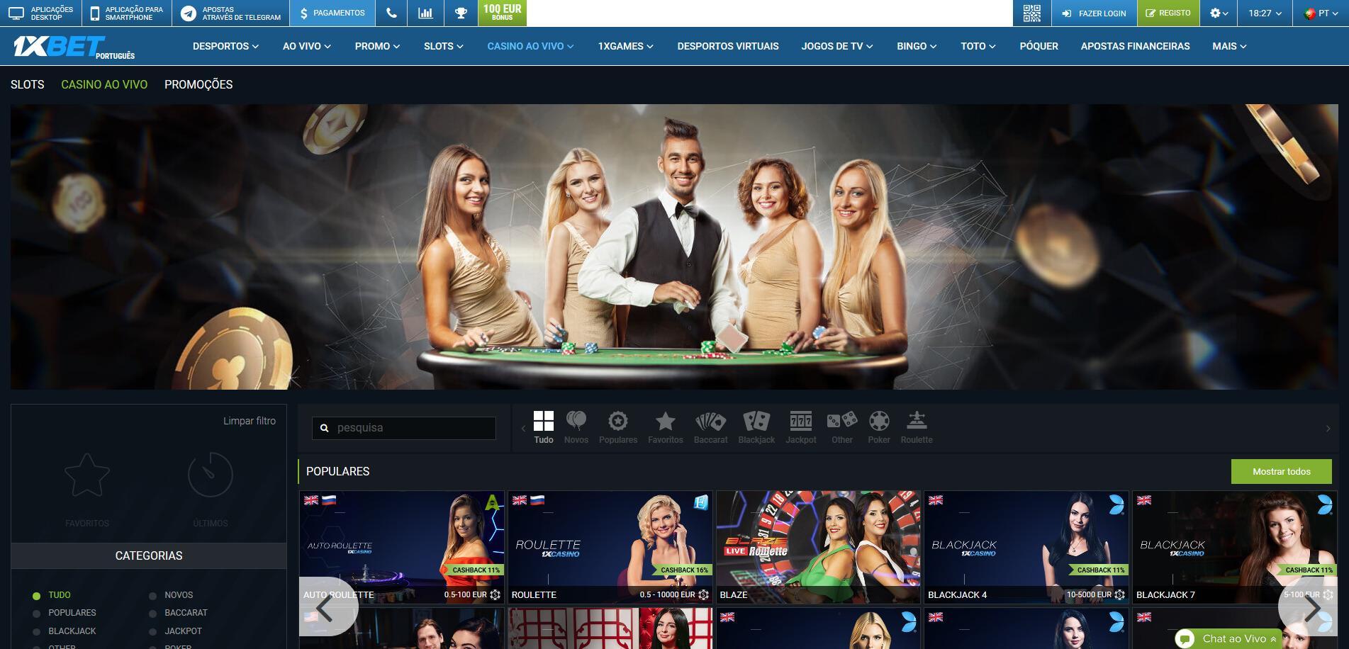Кратко о казино 1xBet и других разделах сайта